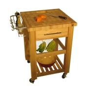 Chris & Chris Pro Chef Kitchen Cart; Natural Lacquer