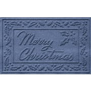Bungalow Flooring Aqua Shield Merry Christmas Doormat; Navy