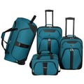 U.S. Traveler 4 Piece Luggage Set; Navy