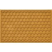 Bungalow Flooring Aqua Shield Honeycomb Doormat; Yellow