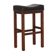 American Woodcrafters Jasper Saddle 26'' Bar Stool with Cushion