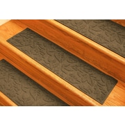 Bungalow Flooring Aqua Shield Dark Brown Fall Day Stair Tread (Set of 4)
