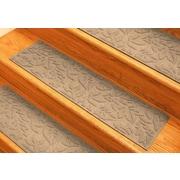 Bungalow Flooring Aqua Shield Medium Brown Fall Day Stair Tread (Set of 4)