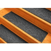 Bungalow Flooring Aqua Shield Charcoal Fall Day Stair Tread (Set of 4)
