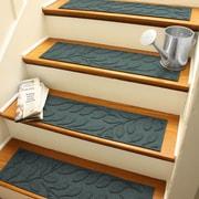 Bungalow Flooring Aqua Shield Evergreen Brittany Leaf Stair Tread (Set of 4)