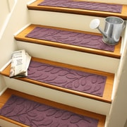 Bungalow Flooring Aqua Shield Bordeaux Brittany Leaf Stair Tread (Set of 4)