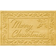 Bungalow Flooring Aqua Shield Merry Christmas Doormat; Yellow