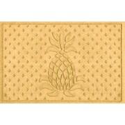 Bungalow Flooring Aqua Shield Diamond Pineapple Doormat; Yellow