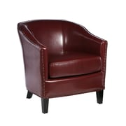 Home Loft Concept Starks Faux Leather Club Chair; Red