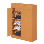 Hokku Designs Brick Modern 5 Shelf Shoe Cabinet with 2 Drawers; Beech