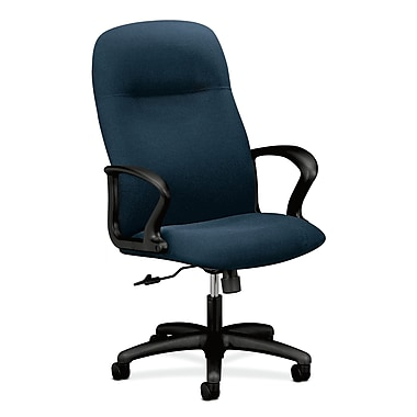 HON Gamut Executive High-Back Desk or Computer Chair, Blue Olefin Fabric