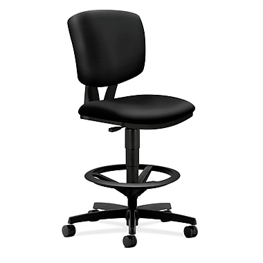 HON Volt Task/Drafting Stool in Polyurethane Upholstery, Black