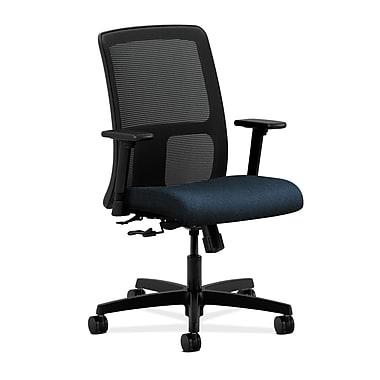 HON Ignition Center-Tilt Low-Back Mesh Task Chair, Blue Fabric
