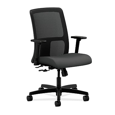 HON Ignition Center-Tilt Low-Back Mesh Task Chair, Iron Ore Fabric