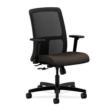 HON Ignition Center-Tilt Low-Back Mesh Task Chair, Espresso Fabric