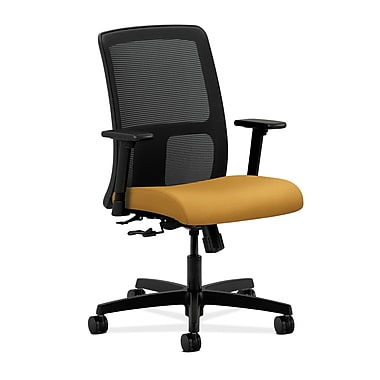 HON Ignition Center-Tilt Low-Back Mesh Task Chair, Mustard Fabric