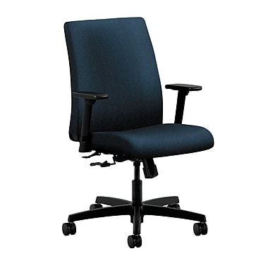 HON Ignition Center-Tilt Low-Back Task Chair, Blue Fabric