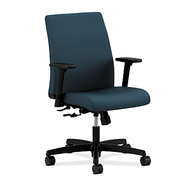 HON Ignition Center-Tilt Low-Back Task Chair, Cerulean Fabric