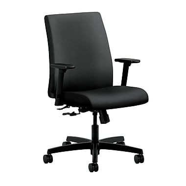 HON Ignition Center-Tilt Low-Back Task Chair, Onyx Fabric