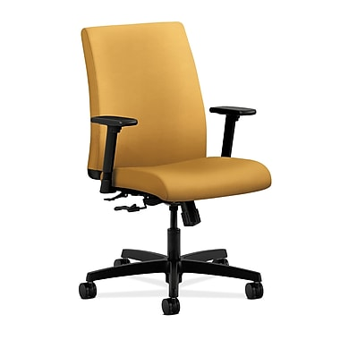 HON Ignition Center-Tilt Low-Back Task Chair, Mustard Fabric