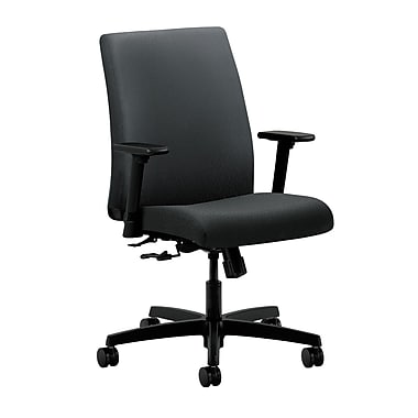 HON Ignition Center-Tilt Low-Back Task Chair, Charcoal Fabric