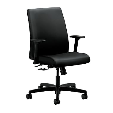 HON Ignition Center-Tilt Low-Back Task Chair, Black Polyurethane