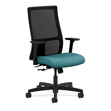 HON Ignition Mid-Back Mesh Task Chair Center-Tilt with Adjustable Arms, Glacier Fabric