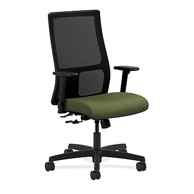 HON Ignition Mid-Back Mesh Task Chair Center-Tilt with Adjustable Arms, Clover Fabric