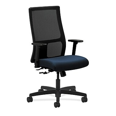 HON Ignition Mid-Back Mesh Task Chair Center-Tilt with Adjustable Arms, Mariner Fabric