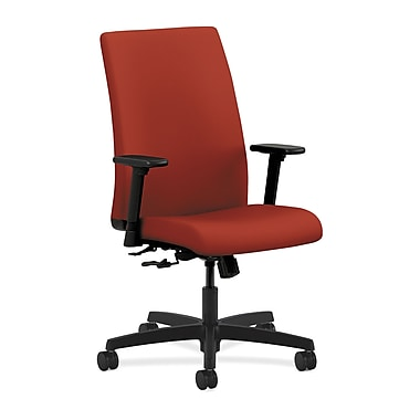 HON Ignition Mid-Back Task Chair Center-Tilt with Adjustable Arms, Poppy Fabric