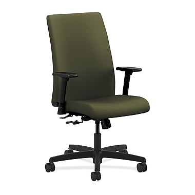 HON Ignition Mid-Back Task Chair Center-Tilt with Adjustable Arms, Olivine Fabric