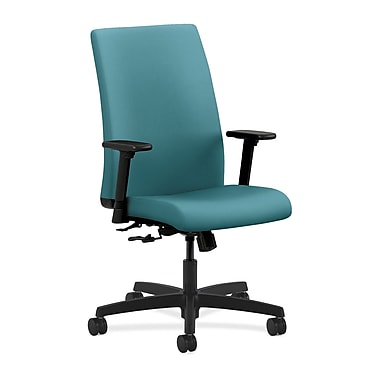 HON Ignition Mid-Back Mesh Task Chair Synchro-Tilt with Adjustable Arms, Glacier Fabric