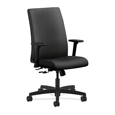 HON Ignition Center-Tilt with Adjustable Arms Mid-Back Task Chair, Onyx Fabric