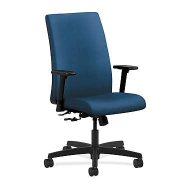 HON Ignition Center-Tilt with Adjustable Arms Mid-Back Task Chair, Regatta Fabric