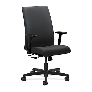 HON Ignition Center-Tilt with Adjustable Arms Mid-Back Task Chair, Charcoal Fabric