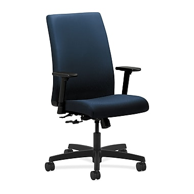 HON Ignition Center-Tilt with Adjustable Arms Mid-Back Task Chair, Mariner Fabric