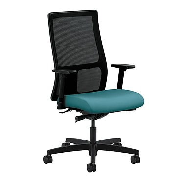 HON Ignition Mid-Back Mesh Task Chair, Synchro-Tilt, Adjustable Arms, Glacier Fabric