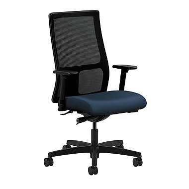 HON Ignition Synchro-Tilt with Adjustable Arms Mid-Back Mesh Task Chair, Ocean Polyurethane