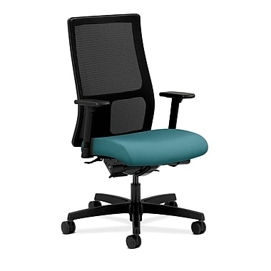 HON Ignition Synchro-Tilt Mid-Back Mesh Task Chair, Back Angle Adjustable Arms, Glacier Fabric