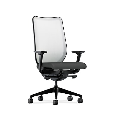 HON Nucleus Synchro-Tilt Knit Mesh Back Task Chair, Seat Glide Fog Mesh Back Iron Ore Fabric