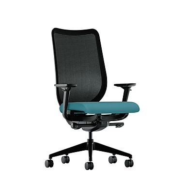 HON Nucleus Synchro-Tilt Knit Mesh Back Task Chair with Seat Glide Adjustable Arms, Glacier Fabric