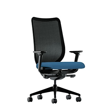 HON Nucleus Synchro-Tilt Knit Mesh Back Task Chair with Seat Glide Adjustable Arms, Regatta Fabric