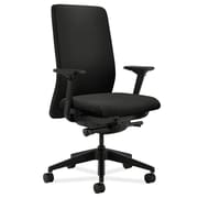 HON Nucleus Fabric Computer and Desk Office Chair, Adjustable Arms, Black (HONN104NT10)