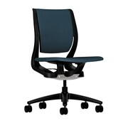 HON® HONRW103ONCU90 Purpose® Fabric Mid-Back Chair, Cerulean/Onyx