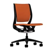 HON® HONRW103ONCU46 Purpose® Fabric Mid-Back Chair, Tangerine/Onyx