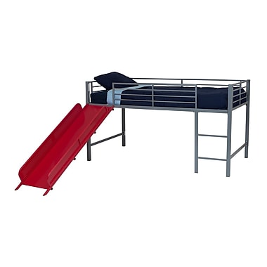 DHP Junior Loft with Slide, Silver/Red