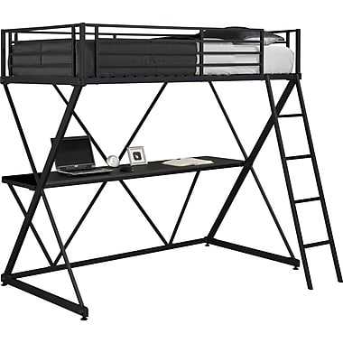 DHP X-Loft Bunk Bed, Black