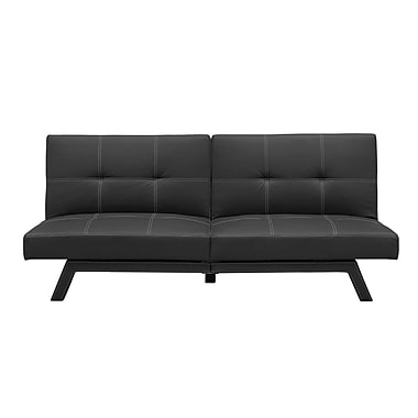 DHP Delaney Split-Back Futon, Black