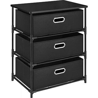 Dorel – Table d'extrémité à 3 bacs de rangement, noir