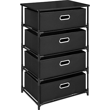 Dorel 4-Bin Storage End Table, Black
